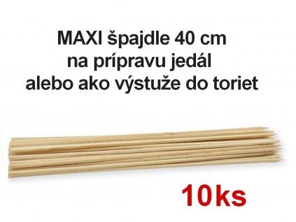 Bambusové špajdle MAXI výstuže do torty 40 cm 10 ks