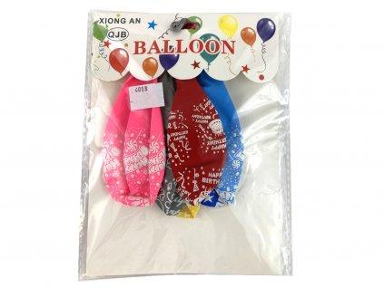 Balóny rôznofarebné Happy Birthday 6 ks