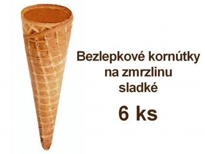 Bezlepkové kornútky na zmrzlinu sladké PISA 6 ks