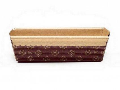 Papierová forma na pečenie obdĺžniková 17,5 x 9 x 5 cm