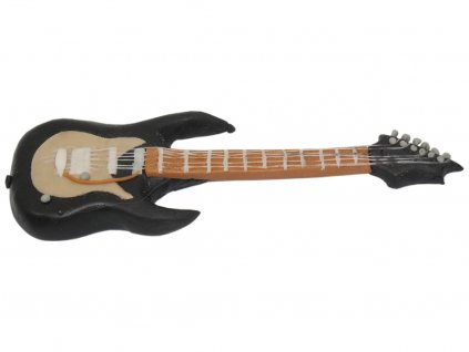Elektronická gitara 15 x 4,5 cm jedlá figúrka na tortu