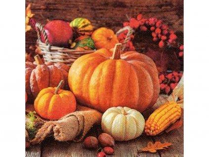 Tekvice (Halloween) servítky 33 x 33 cm (3 vrstvové) 20 ks