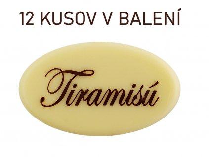 Čokoládky s nápisom TIRAMISU 12 ks 1