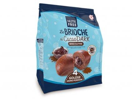 Kakaové briošky 4 ks Le Brioche al Cacao DARK 200g