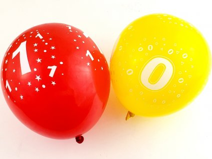 Balón farebný ČISLO (rôzne čísla)