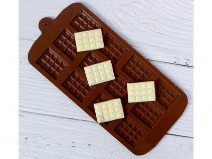 Silikónová forma na mini čokoládky (čokoládové tabuľky) na zdobenie toriet, zákuskov, cupcakeov 9