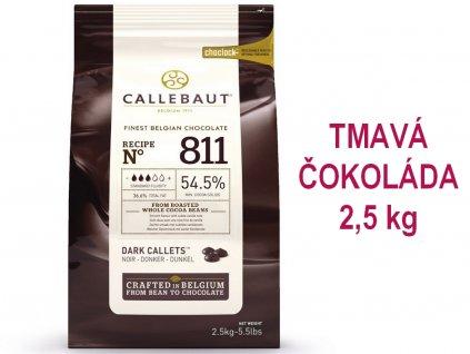 TMAVÁ čokoláda Callebaut 54,5% 2,5 kg 1