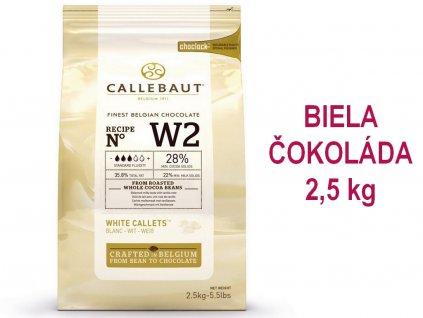 BIELA čokoláda Callebaut 28% 2,5 kg