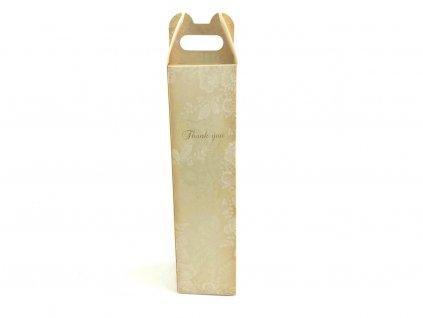 Darčeková krabica na fľašu s nápisom Thank you