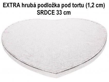 EXTRA hrubá podložka pod tortu (1,2 cm) SRDCE 33 cm