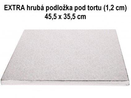 EXTRA hrubá podložka pod tortu (1,2 cm) 45,5 x 35,5 cm