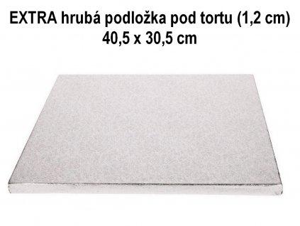 EXTRA hrubá podložka pod tortu (1,2 cm) 40,5 x 30,5 cm