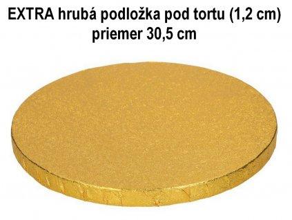EXTRA hrubá podložka pod tortu (1,2 cm) priemer 30,5 cm ZLATÁ