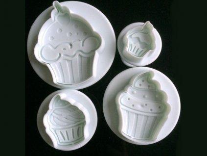 CUPCAKE (koláčik) piestové vypichovače 4 ks 1