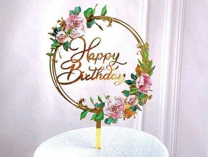 Akrylový zápich Happy Birthday 1