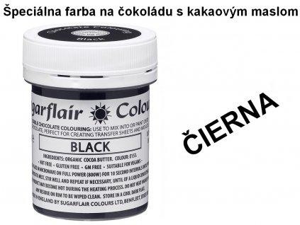 Špeciálna farba na čokoládu s kakaovým maslom ČIERNA 35g