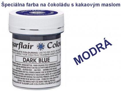 Špeciálna farba na čokoládu s kakaovým maslom MODRÁ 35g