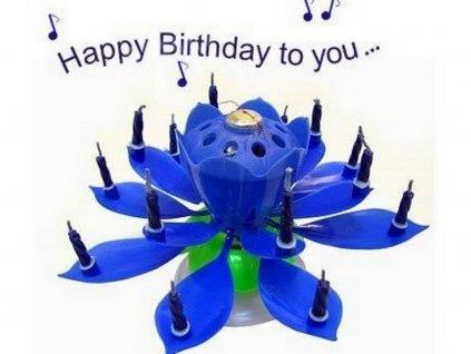 Hracia sviecka kvet s fontánou (modrá)