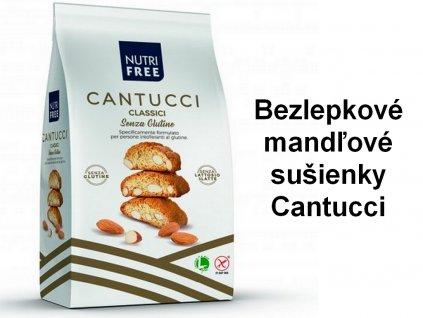 Bezlepkové mandľové sušienky Cantucci NUTRI FREE 240g