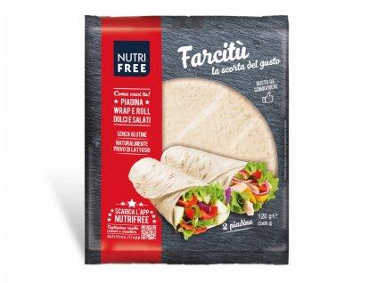 Bezlepková Tortilla 2 kusy Farcitu NUTRI FREE 120g