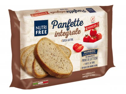 Bezlepkový chlieb celozrnný domáci krájaný Panfette Integrale NUTRI FREE 340g