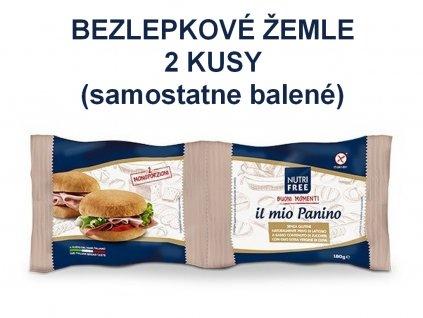 Bezlepková žemľa 2 kusy il mio panino NUTRI FREE 180g 2