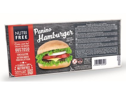 Bezlepkový Hamburger 2 kusy NUTRI FREE 180g