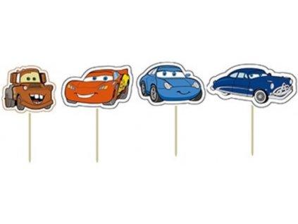 McQueen (autíčka) zapichovátka 24 ks