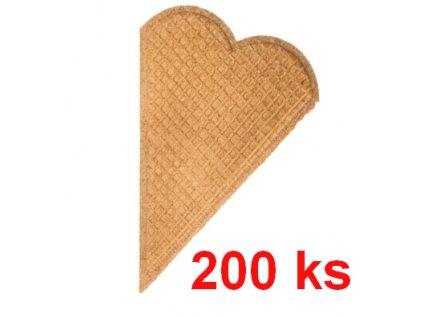 Srdce oblátky na zdobenie toriet a zmrzlín 200ks