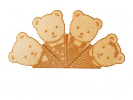 Medvedík oblátky na zdobenie toriet a zmrzlín 360 ks