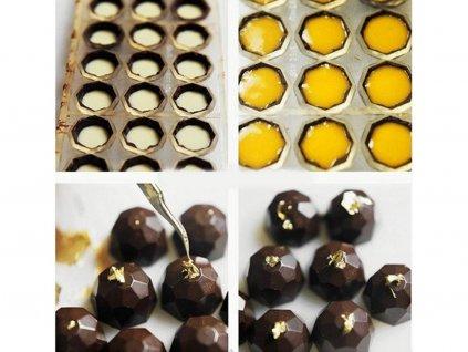 2118 Forma na čokoládové diamanty plastová