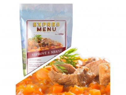 Bravčové mäso s mrkvou
