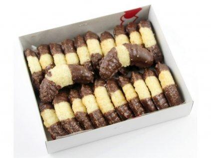Kokosové fúkané rožky s cokoládou 250g