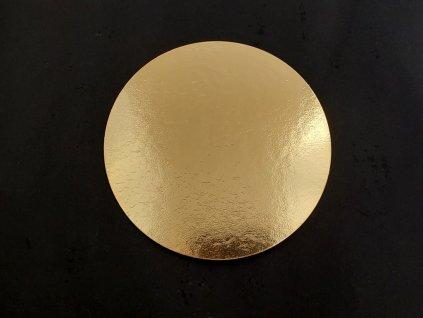 00731 Tortová podložka zlatá Ø 15,5 cm