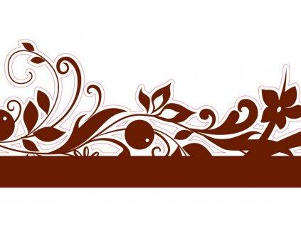 Obvodová dekorácia z jedlého papiera motív kvety 3 ks, 82 cm