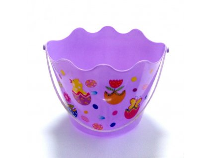 01573 Veľkonočný košíček pre kupačov plastový fialový