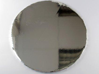 1 0029 Tortová ozdobná podložka Ø 40 cm strieborná