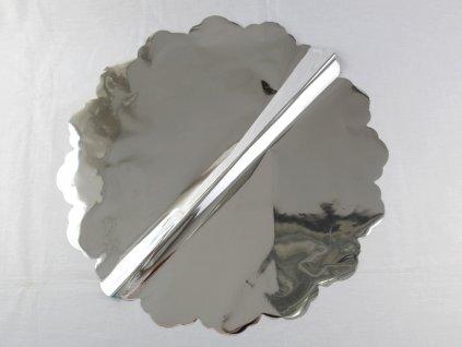 1 0031 Ozdobný papier pod tortu kruh Ø 50 cm strieborný