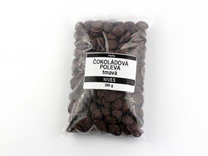 Čokoládová poleva tmavá NIVES 300g HoHo