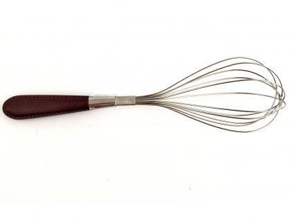 Metlička s koženou rúčkou