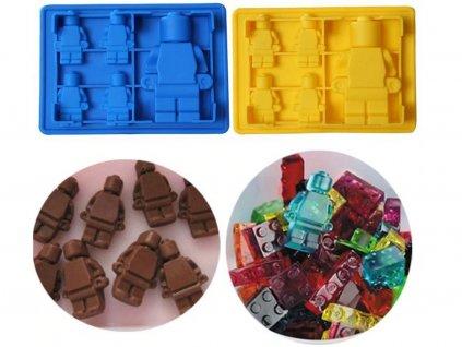 Silikónová forma Lego postavičky 4 malé a 1 veľká 3
