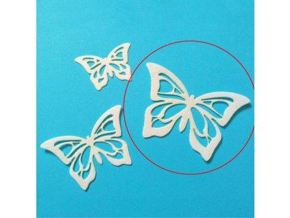 motylik z jedlej oblatky velky