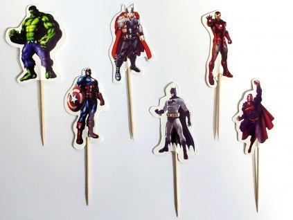 Avengers (Ironman, Thor, Hulk, Kapitán Amerika, Deadpool, Hawkeye Barton, Black Widow Natasha, Spiderman) zapichovátka