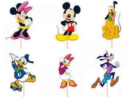 Mickey a Minnie s priatelmi zapichovátka 6 ks
