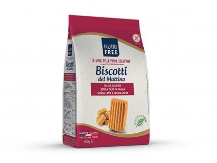 Bezlepkové sušienky Biscotti del Mattino NUTRI FREE 400 g