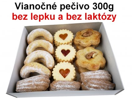 Vianočné pečivo bez lepku a laktózy 300g (medovníky + vanilkové rožky)