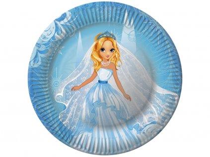 Papierový tanier PRINCEZNÁ 23 cm, 8 ks