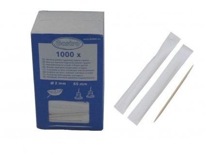 Drevené špáradlá v hygienickom balení 65 mm 1000 ks