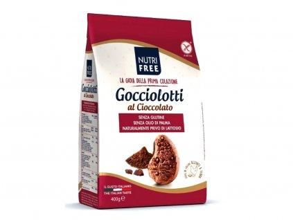 Bezlepkové kakaové sušienky Gocciolotti al Cioccolato NUTRI FREE 400g