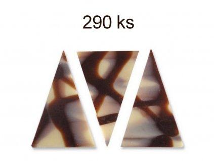 Čokoládová dekorácia trojuholník 290 ks DIABLO